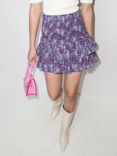 Naomi floral print mini skirt