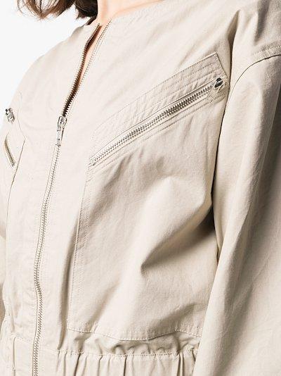 Nilaney zip-up cotton jumpsuit
