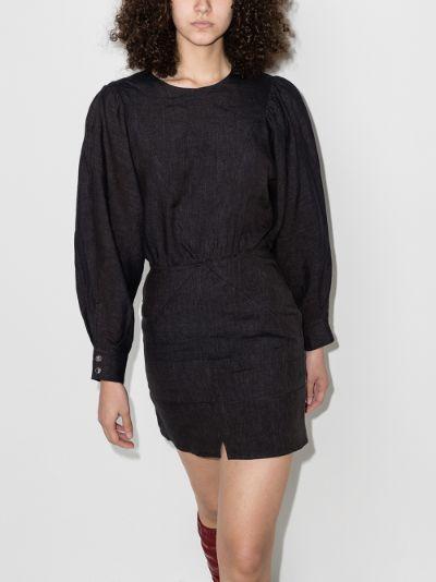 Nuevo panelled linen mini dress