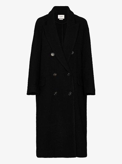 Ojima double-breasted coat