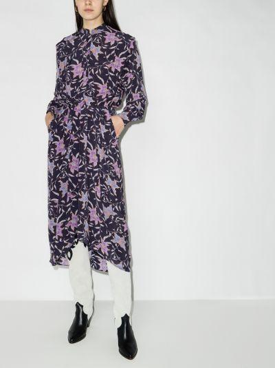 Okley pleated floral dress
