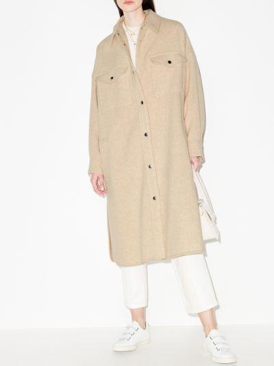 oversized single-breasted coat