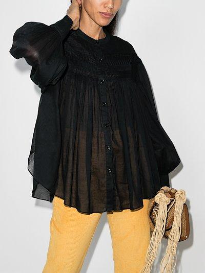 Plalia Sheer Cotton Blouse