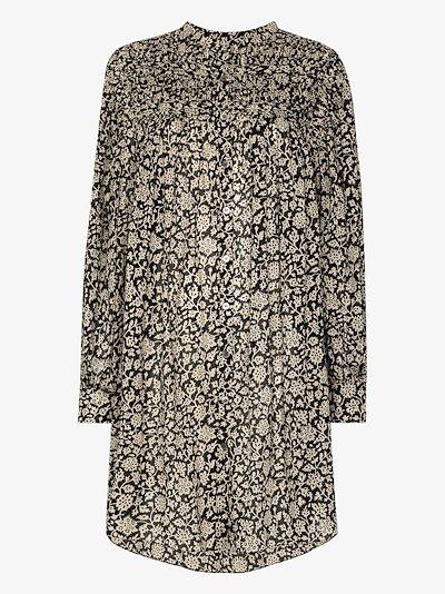 Plana floral print shirt dress