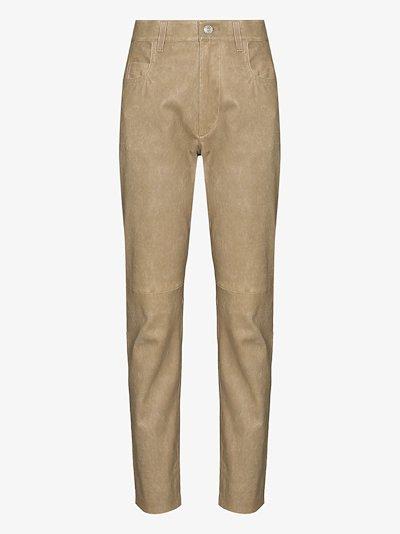 Tea slim leg leather trousers