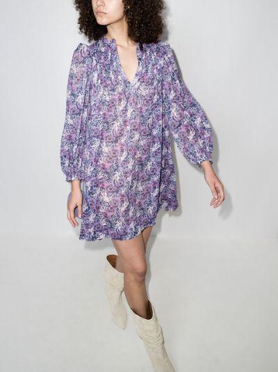 Virginie Floral Print Mini Dress