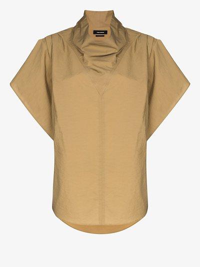 Funnel neck cotton top