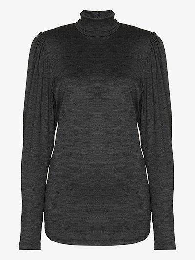 Gavina roll neck wool top