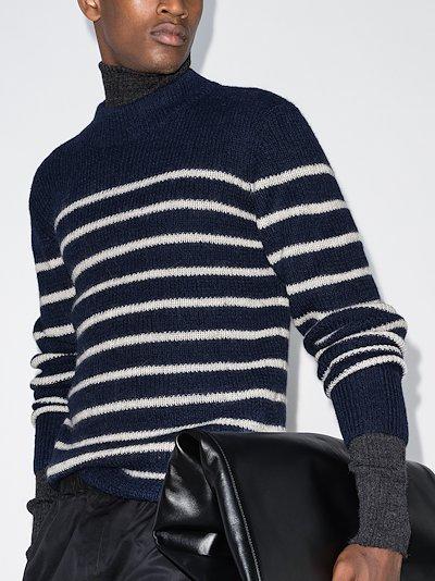 george striped high neck sweater