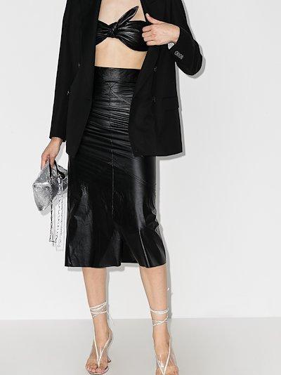 high waist faux leather skirt