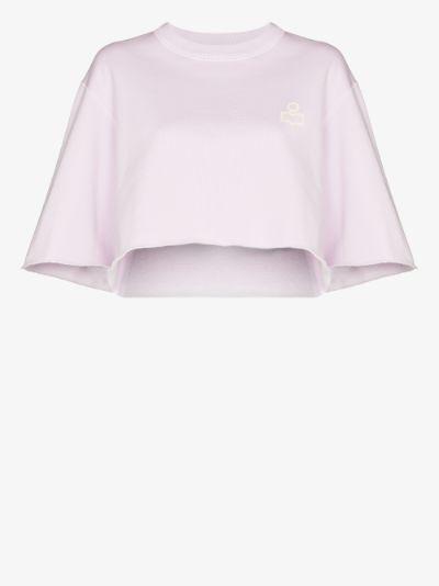 Minazio cropped cotton T-shirt