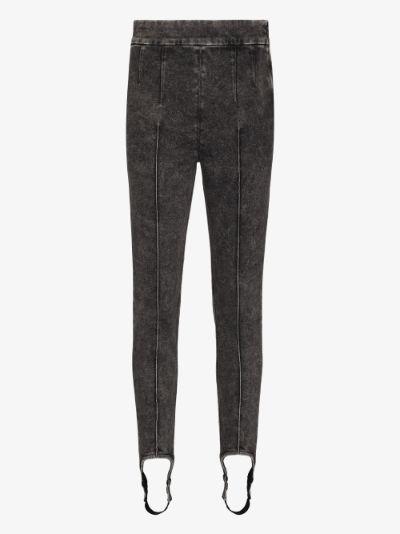Nanouli acid wash stirrup skinny jeans