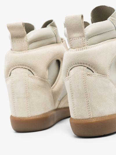 Neutral Buckee Wedge Sneakers