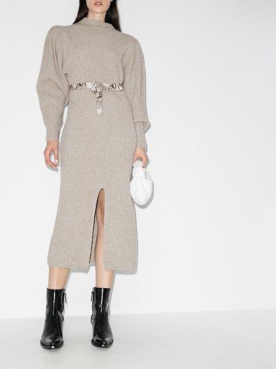 perrine knitted midi dress