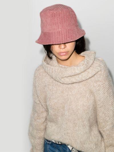 pink Haley velvet bucket hat