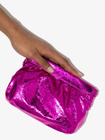 pink Mini Luz leather clutch bag