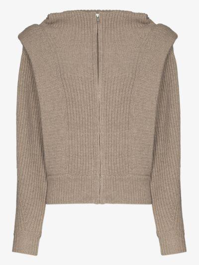 Romea merino wool hooded cardigan