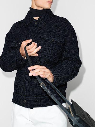 Sanchez checked wool jacket