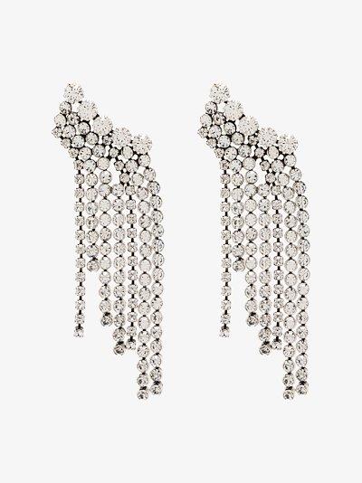 silver crystal cascade earrings