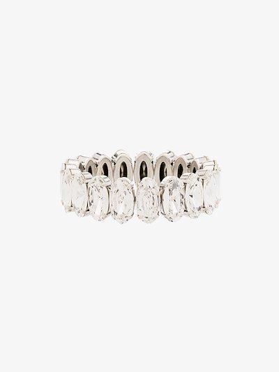 silver tone crystal bracelet