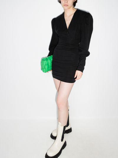 Stella ruched mini dress