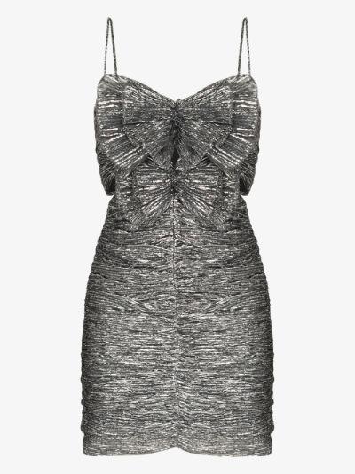 Tikyna metallic bow mini dress