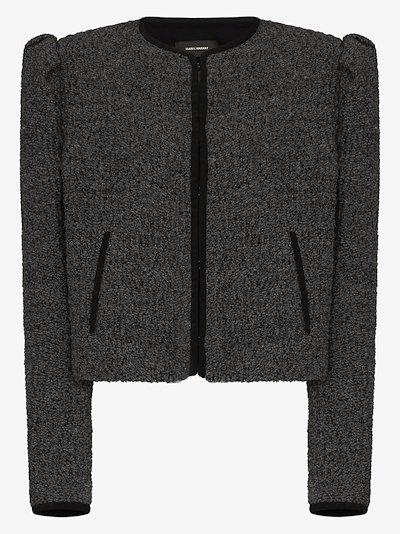 Zingy puff sleeve bouclé jacket