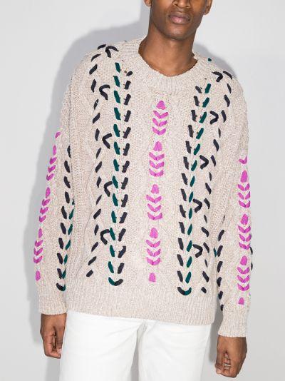 Zolan cable stitch crew neck sweater