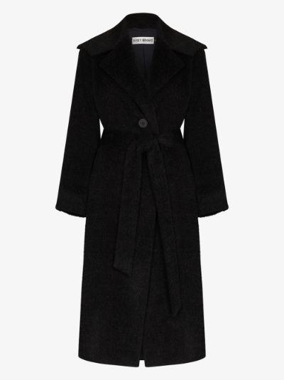 wide collar belted coat