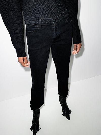 split hem kick flare jeans