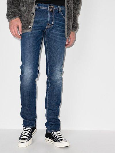 002 mid-rise slim fit jeans