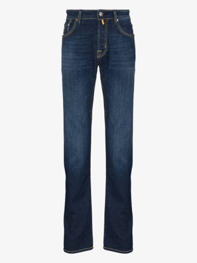 high-rise slim leg jeans