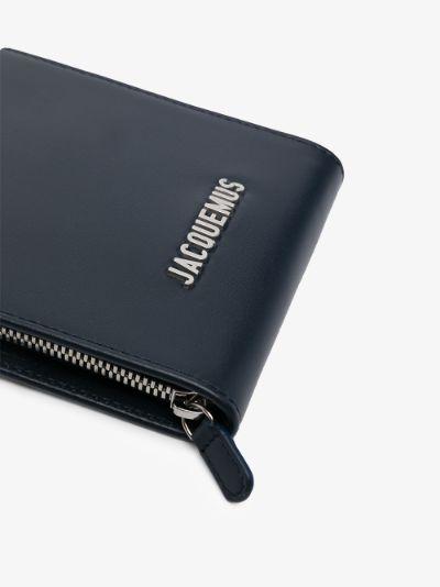 Blue Le Gadjo leather messenger bag