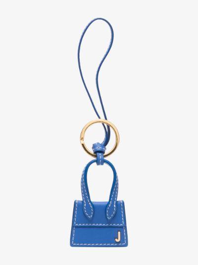 blue Le porte clés Chiquito leather keyring