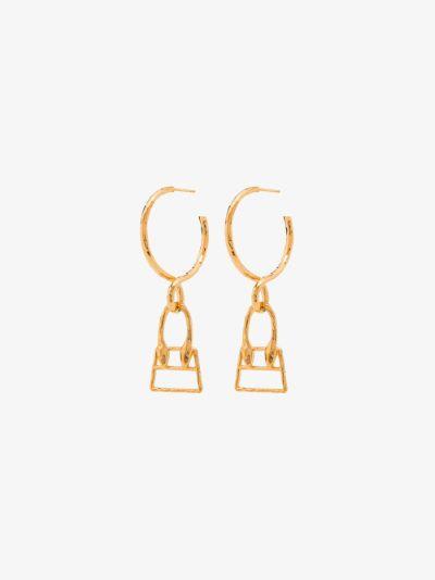 gold tone Les Creoles Chiquita earrings