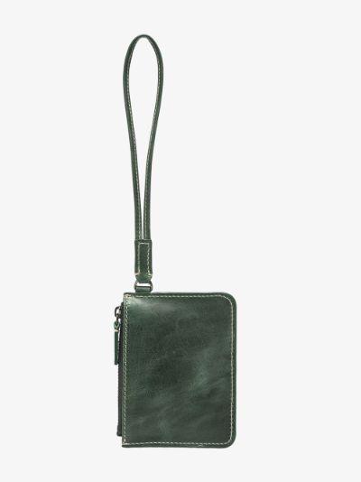 green Le Porte leather wallet