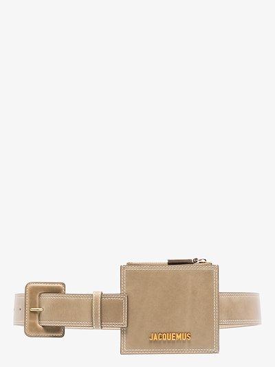 khaki La Ceinture Porte Monnaie leather belt