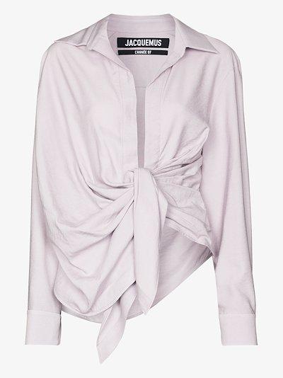 la chemise bahia draped blouse