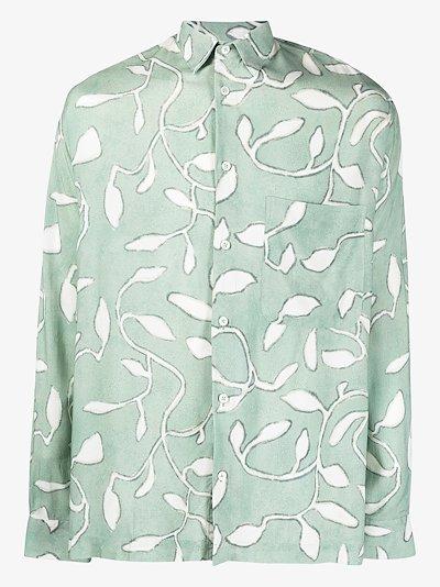 La Chemise Baou leaf print shirt