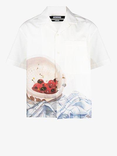 La chemise Jean cherry print shirt
