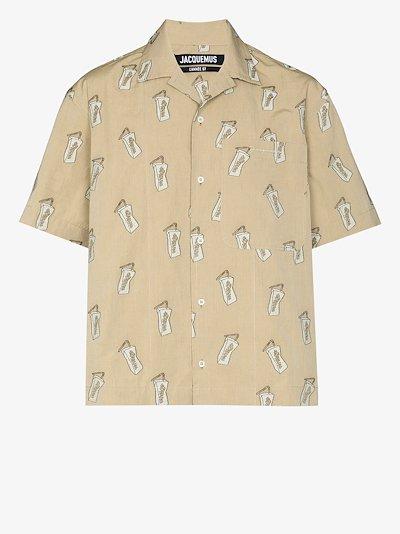 La Chemise Jean Pistachio printed shirt