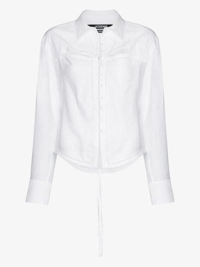 La chemise Nappe cut-out shirt