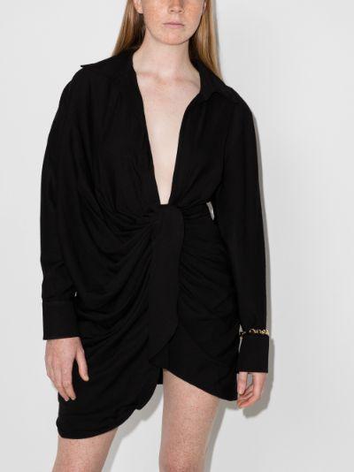 La robe Bahia draped shirt dress