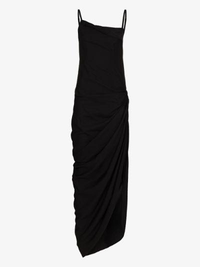 La robe Saudade Longue asymmetric maxi dress