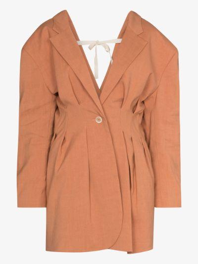 La veste Camargue pleated blazer