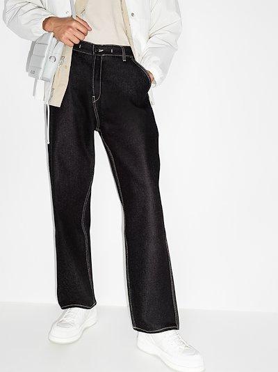 Le de Nîmes straight leg jeans