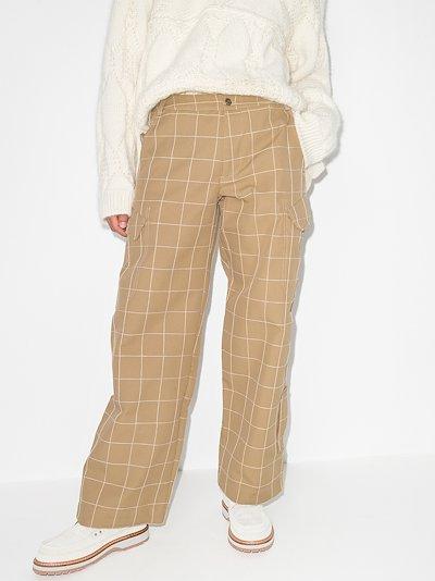 Le Pantalon Quadri wide leg trousers