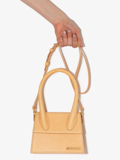 Neutral Le Chiquito Moyen leather mini bag