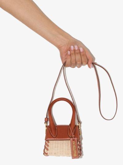 Neutral Le Chiquito Raffia Mini Bag