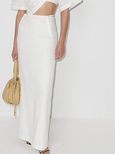 Novio belted maxi skirt